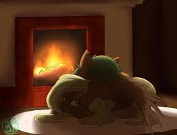 1026092 artist farewelldecency cuddling fire fireplace hug
