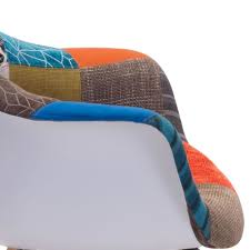 Shoe Chair Canada Zuo Modern Safdie Lounge Chair Multicolor Patchwork Disc 500350