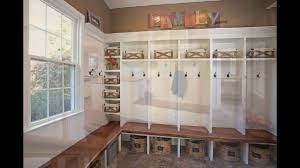 Home Plans With Mudroom by Mudroom Lockers With Bench Youtube