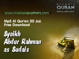 download mp3 qiroat mp3 quran 30 juz syeikh abdur rahman as sudais youtube
