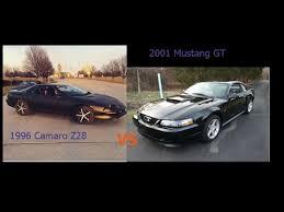 camaro z28 vs mustang gt 1996 camaro z28 vs 2001 mustang gt