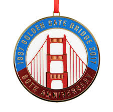 anniversary ornament 2017 golden gate bridge