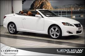 used lexus is 250 convertible used white lexus is 250 c for sale edmunds