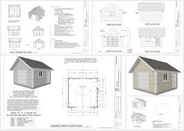 g568 16 x 16 u2013 8 u2032 garage plan in pdf and dwg sds plans