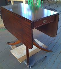 Wood Drop Leaf Table Hand Made Paine Furniture Drop Leaf Table Refinish By Alps Wood