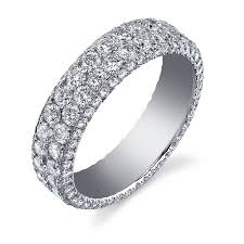 womens diamond wedding bands women s wedding band shown in platinum with micro pave