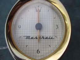 maserati gold oem original maserati gold analogue dash clock