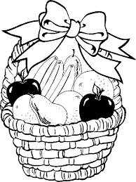 fruit basket pictures color free coloring pages art