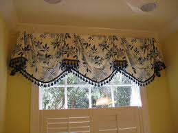 Window Swags And Valances Patterns Empire Swag Valance In Blue And White Without Tails By Posh
