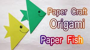 how to make origami paper fish craft tutorials paper crafts