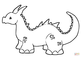 cute baby dragon coloring page free printable coloring pages
