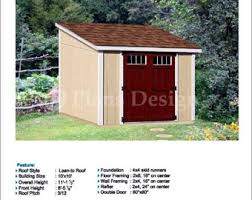 Free Wood Shed Plans Materials List by Shed Plans Etsy