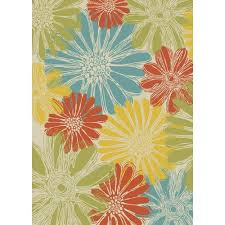 Flower Area Rugs by Nourison Home And Garden Daisies Ivory 10 Ft X 13 Ft Indoor