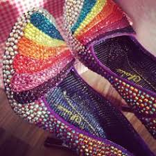 Wedding Shoes Rainbow Alternative Wedding Shoes Crystal Flats And Rainbow Heels By