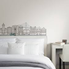 White Wall Decals For Bedroom Interior Decorations Lovable Building Vinyl Wall Sticker Decal At