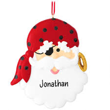 personalized pirate santa ornament penned ornaments
