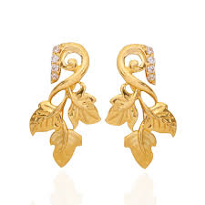gold earings oriana the light weight jewellery the hawthorn leaf gold