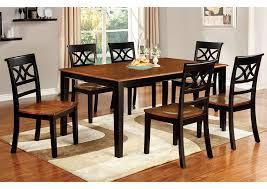 dinettes plus torrington black u0026 cherry dining table w 18