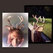 Deer Antlers Halloween Costume Deer Antler Headband Headpiece Halloween Costume Horns Buck Doe
