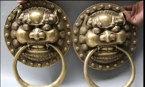 foo dog door knocker zhmui88006221 12 brass fu lion foo dog statue zhao
