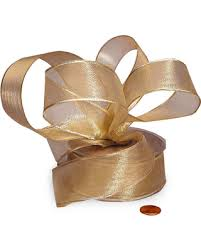 gold metallic ribbon tis the season for savings on sheer gold wired edge metallic