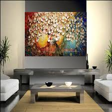 painting for bedroom handmade thickness abstract on canvas pachira macrocarpa oil