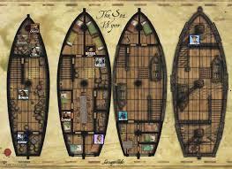 ship floor plans pirate ship deck plans