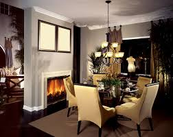traditional dining room with stone fireplace french doors in igf usa