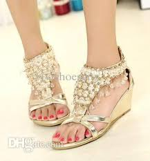 gold wedge shoes for wedding silver gold wedding shoes bohemian shiny beaded sandals