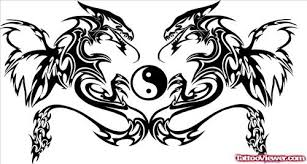 tribal dragons and yin yang design viewer com