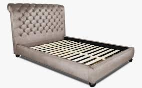 Velvet Bed Frame Peppa Velvet Upholstered Slat Bed Frame