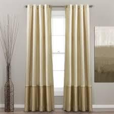 95 Inch Curtain Panels Lush Decor Prima Ivory Taupe Curtain Panel Pair Classic