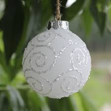 factory sale frosted white glass balls ornaments with