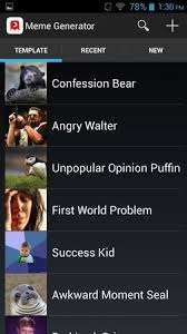 Meme Generator Confession Bear - 5 meme generator apps for android