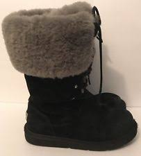 ugg womens thames boots black ugg australia leather cuban heel boots for ebay