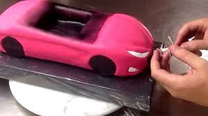 barbie porsche tarta coche descapotable fondant fondant car cake timelapse