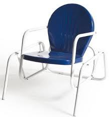 Outdoor Single Glider Chair Bellaire Metal Single Glider 1950 U0027s Style Zinger Hardware