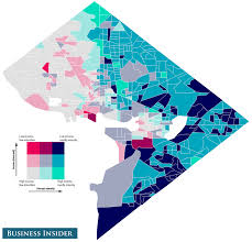 Washington Dc Area Map by Income And Racial Inequality Maps Business Insider