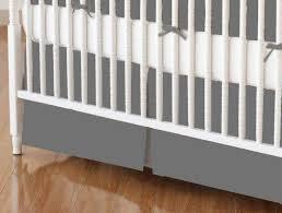 crib skirt dark grey jersey knit crib skirts sheets sheetworld