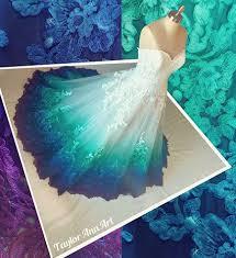 teal wedding dresses colorful wedding dress obniiis