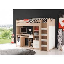bureau gami ensemble lit mezzanine avec bureau penderie étagère 3suisses