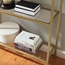 Antique Etagere Aimee Gold Glass Etagere Crosley Furniture Free Standing Shelves