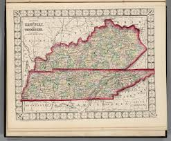 Tennesse Map County Map Of Kentucky And Tennessee David Rumsey Historical