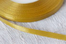 thin ribbon gold satin ribbon 6mm 35yard thin ribbon decorative ribbon
