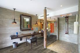 vintage and rustic style modern bathroom design with luxury vinyl