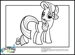 my little pony rarity in a dress coloring pages
