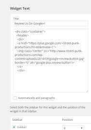 how to add a google plus review button to your website