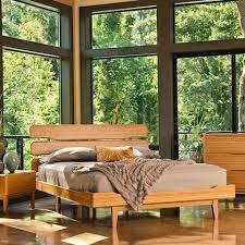 3pc greenington currant modern california king platform bedroom