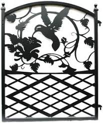 metal iron garden gate with birds and by modernironworks gates