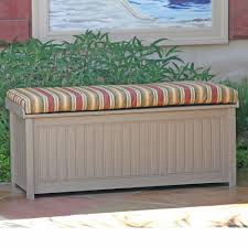Garden Furniture Cushion Storage Bag by Outdoor Enchanting Outdoor Cushioned Wood Bench Storage Solid